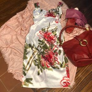Maggie London Floral cabbage rose dress